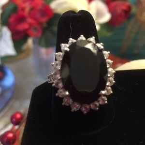 Sterling silver 925 Thai Black spinel oval 42 ct 9